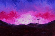 Light Of The World Paintings - Cross of Jesus Christ by Annie Zeno
