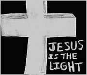 Saviour Drawings - Cross Of Light by Shaunna Juuti