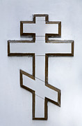 Russian Cross Photos - Cross on the Russian Orthodox Church in Bishkek Kyrgyzstan by Robert Preston