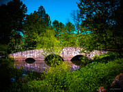Stone Bridge Framed Prints - Cross Over the Bridge Framed Print by Colleen Kammerer