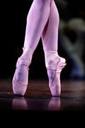 Dance Shoes Posters - Cross Pointe Poster by Lone  Dakota Photography