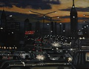 Streetlight Painting Prints - Cross Town Shuffle Print by Larry Lamb