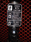 Crosswalk Photos - Cross with Caution 1 by Kathlene Pizzoferrato