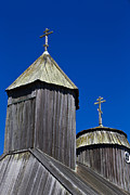 Outsides Art - Crosses On Top Of Chapel at Fort Ross State Historic Park by Jason O Watson