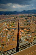 Arial View Photos - Crossing Florence by Sid Webb