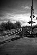 Railroad Crossing Photo Framed Prints - Crossing Framed Print by Fred Lassmann