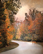 Autumn Landscape Art - Crossing Over by Jai Johnson