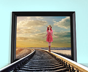 Nina Bradica Framed Prints - Crossing Over Framed Print by Nina Bradica