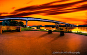 Fort Smith Arkansas Prints - Crossing the Arkansas Print by Larry McMahon