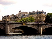 Crossing The Seine Print by Lauren Hunter