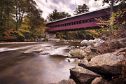 North Conway Framed Prints - Crossing the Swift Framed Print by Eric Gendron