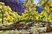 Zion National Park Photos - Crossover The Bridge - Zion by Jon Berghoff