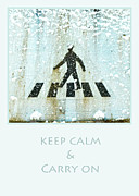Crosswalk Framed Prints - Crosswalk Keep Calm Framed Print by Tine  Eelman