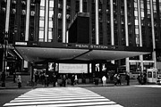 Manhaten Prints - Crosswalk Leading To Penn Station And Madison Square Garden Seventh Avenue New York Print by Joe Fox