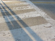 Crosswalk Photos - Crosswalk Shadow 2 by Anita Burgermeister