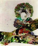 Spontaneous.art Prints - CrosswatersPaints.com Geisha Print by Daniel Bohnett