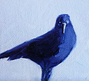 Inky Posters - Crow #2 Poster by Nancy Merkle