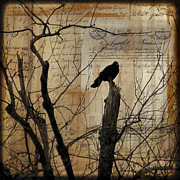 Nature Collage Framed Prints - Crow Collage Framed Print by Gothicolors And Crows