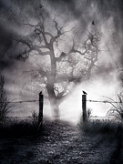 Spooky Digital Art - Crow Hallow by Peter Chilelli