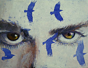 Michael Posters - Crow Poster by Michael Creese