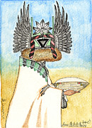 Hopi Mixed Media Prints - Crow Mother 2 Print by Dalton James