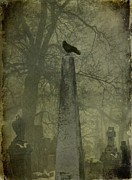 Spire Posters - Crow On Spire Poster by Gothicolors And Crows