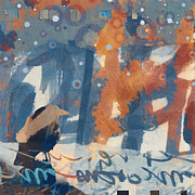 Crow Snow Print by Carol Leigh