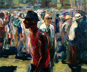 Crowd Scene Art - Crowd by Amalya Nane Tumanian