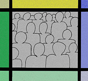 Crowd Mixed Media Prints - Crowd Print by Thomas Gasch