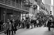 French Quarter Framed Prints - Crowds of Bourbon Street Framed Print by Chris Moore