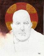 Icons Drawings Originals - Crowley A by Agenor  Marti