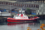 Towboat Framed Prints - Crowley Tugboat Framed Print by Roger Reeves