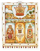 Jerusalem Paintings - Crown of a good name by Michoel Muchnik