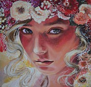 Lonely Paintings - Crown of Flowers by Shirl Theis
