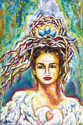 Strength Paintings - Crown of Life by Flora Aube