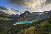 Glacier National Park Posters - Crown of the Continent Poster by Joseph Rossbach