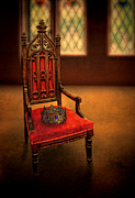 Priceless Framed Prints - Crown on Chair Framed Print by Jill Battaglia