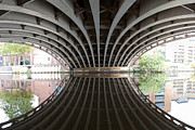 Water Reflections Pyrography - Crown Point Bridge Leeds by Karl Wilson
