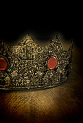Priceless Prints - Crown with Red Jewels Print by Jill Battaglia