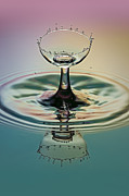 Water Splashes Acrylic Prints - Crowning The Goblet Acrylic Print by Susan Candelario