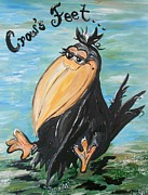Crow Prints - CROWS FEET ... Quoth the Raven NEVERMORE  Print by Eloise Schneider