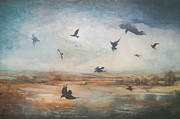 Crows Paintings - Crows In The Landscape by Lori Goldberg