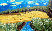 Van Gogh Painting Originals - Crows Over a Wheat Field by Charlie Spear