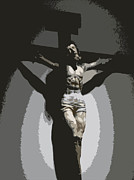 Jesus Crucifix Digital Art - Crucified by Lovina Wright