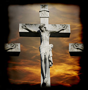Steven Michael Photography And Art Framed Prints - Crucified Framed Print by Steven  Michael