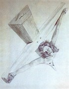 Christ Drawings - Crucified by William  Paul Marlette