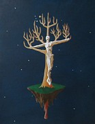 Crucifix Paintings - Crucifix 2 by Steve  Hester