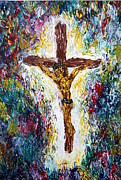 Crucifix Paintings - Crucifix by Laurie Pike