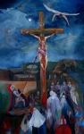 Crucifixion Print by Chris  Easley