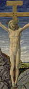 Savior Painting Framed Prints - Crucifixion  Framed Print by Master of the Barberini Panels